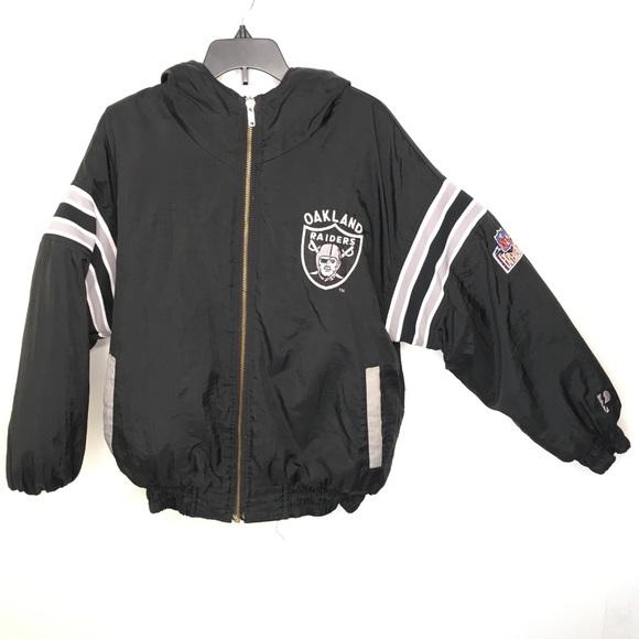 4fa13b6f Kids Vintage 90s Oakland Raiders Jacket Reversible